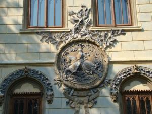 Castelul Miclauseni, detaliu fatada